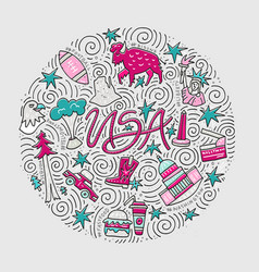 usa concept vector image vector image