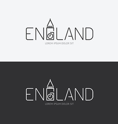 alphabet england design concept with flat sign vector image