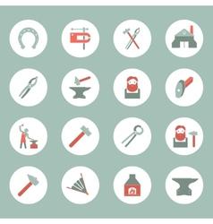Blacksmith icons set vector image