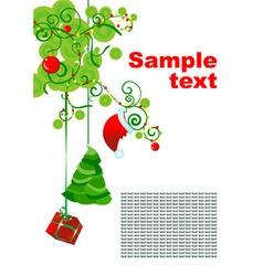 christmas hollyday decor vector image vector image