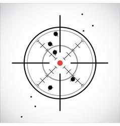 Crosshair shot vector image