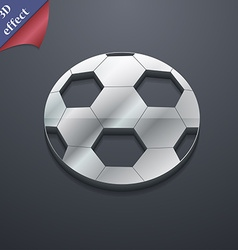 Football icon symbol 3D style Trendy modern design vector image