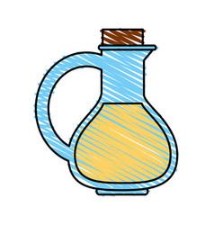 Oil flask vector