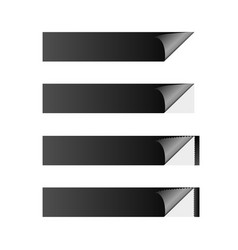 sticker banner black vector image