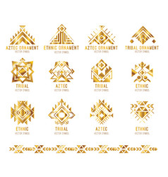 tribal business logo card vector image