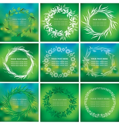 background natural 10 vector image vector image