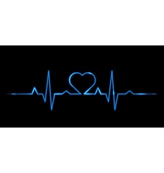 Cardiogram of love vector image vector image