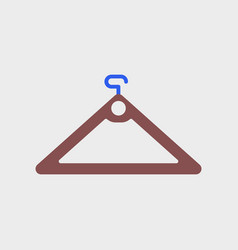 Flat icon of hanger vector