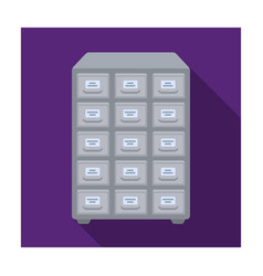 library catalog icon in flat style isolated on vector image