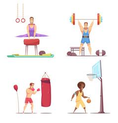 men take sports set vector image