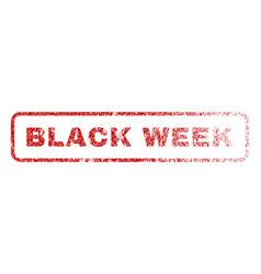 black week rubber stamp vector image