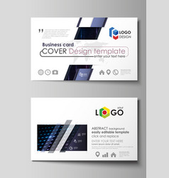 business card templates layouts abstract vector image vector image