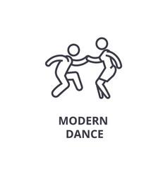 modern dance thin line icon sign symbol vector image