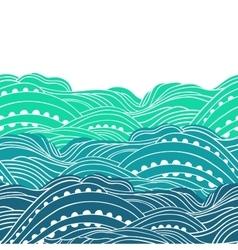 Three Waves Horizontal 2 vector image vector image