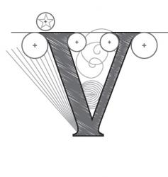 v vector image vector image