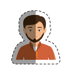 young businessman avatar character vector image