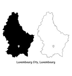 1106 luxembourg city luxembourg vector