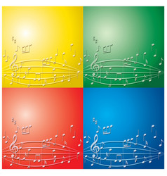 abstract backgrounds with light color music notes vector image