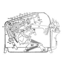 Adding machine vintage vector