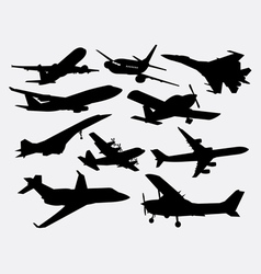 Airplane transportation silhouette vector
