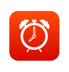 alarm clock icon digital red vector image