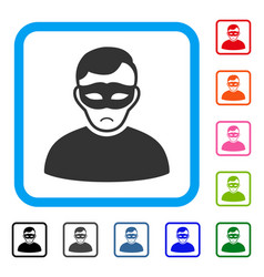 Anonymous person framed dolor icon vector