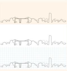 bilbao hand drawn skyline vector image