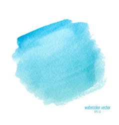 Blue watercolor circle vector