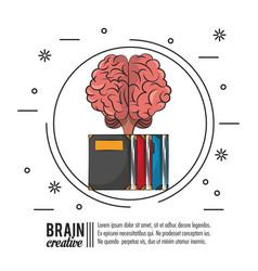 brain creative poster icon ilustration vector image