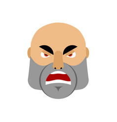 Brutal man angry emoji men face aggressive vector