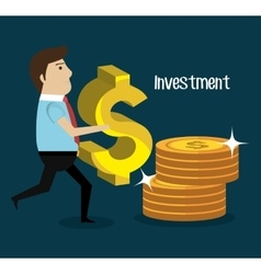 Business and money investment vector image