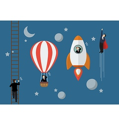 Business competition concept vector