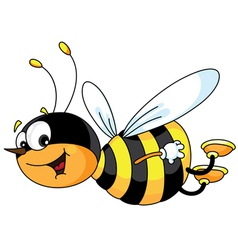 cheerful bee vector image