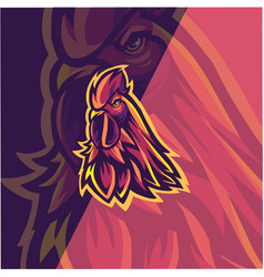 Chicken esport mascot logo design vector