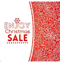 Christmas sale doodle seamless pattern like lace vector image
