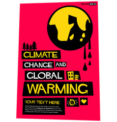 Climate change and global warming vector