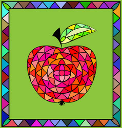 Colored image of apple vector