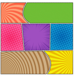 Comic page bright composition vector
