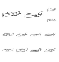 Design commercial and flight logo set vector