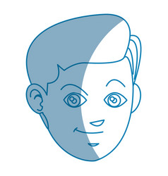 Drawing face boy smiling avatar design vector