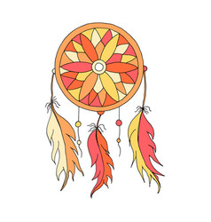Dreamcatcher color hand to draw vector