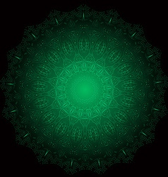 Ethnic Fractal Glowing Mandala Meditation looks vector