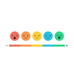 Feedback concept emoticon flat design icon set vector