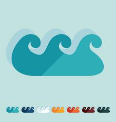 Flat design wave vector
