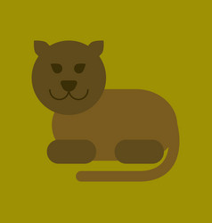 flat icon on background cartoon panther vector image vector image