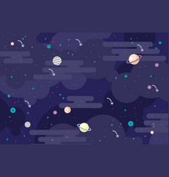 galaxy outer space background vector image