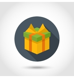 Gift box colorful icon vector