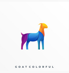 goat colorful template vector image