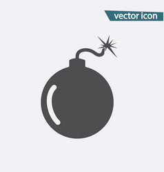 gray bomb icon isolated on background modern flat vector image