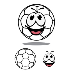Happy soccer or football ball character vector image